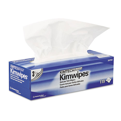 Kimberly Clark kcc34743 Kimwipes delicate task wipers, 3 ply, 11 4 5 x 11 4 5, 119 box, 15 boxes carton