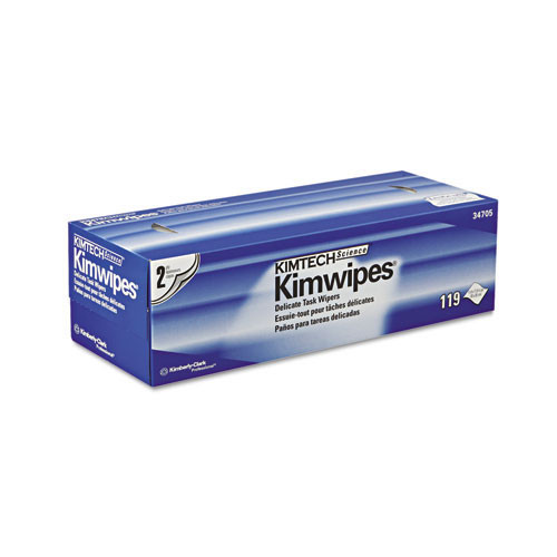Kimberly Clark kcc34705 Kimwipes delicate task wipers, 2 ply, 11 4 5 x 11 4 5, 119 box, 15 boxes carton