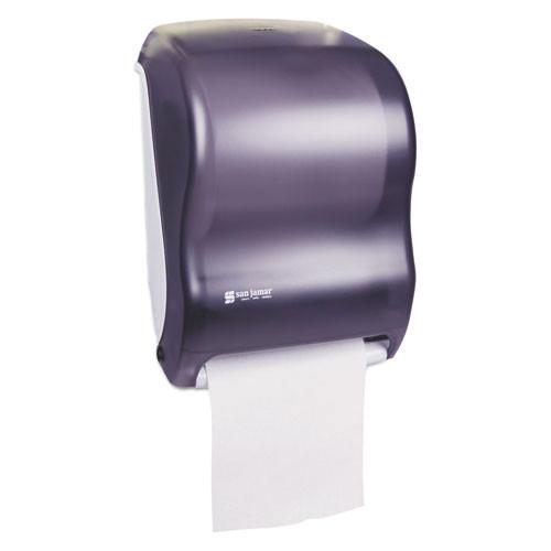 San jamar sjmt1300tbk electronic touchless roll towel dispenser, 11 3 4 x 9 x 15 1 2, black
