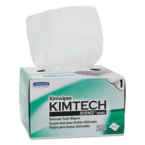 Kimberly Clark kcc34120 Kimwipes tissue, 4 2 5 x 8 2 5, 280 box, 30 boxes carton