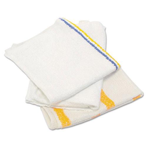 Hospeco hos53425bp counter cloth bar mop, value choice, white, 25 pounds bag