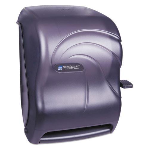 San jamar sjmt1190tbk lever roll towel dispenser, oceans, black pearl, 12 15 16 x 9 1 4 x 16 1 2