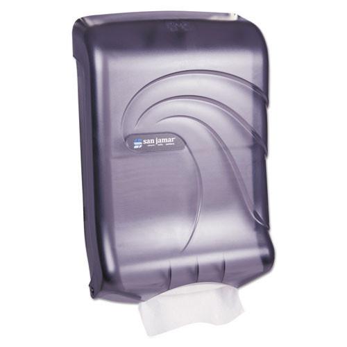 San Jamar SJMT1790TBK paper hand towel dispenser cfold multifold oceans ultrafold black plastic