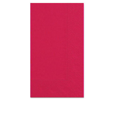 Hfm180511 dinner napkins, 2 ply, 15 x 17, red, 1000 carton
