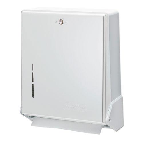 San Jamar SJMT1905WH paper hand towel dispenser cfold multifold white plastic