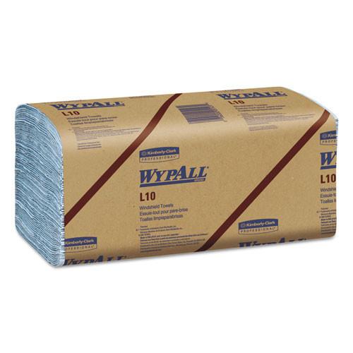 Kimberly Clark kcc05123 L10 windshield towels, 9 1 10 x 10 1 4, 1 ply, l blue, 224 pack, 10 packs carton