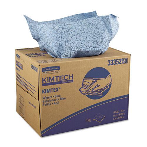 Kimberly Clark kcc33352 Kimtex wipers, 12 1 10 x 16 4 5, blue, 180 brag box
