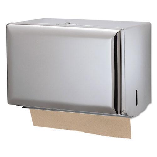 San jamar sjmt1800xc singlefold paper towel dispenser, chrome, 10 3 4 x 6 x 7 1 2