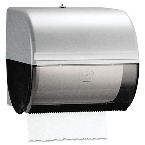 Kimberly Clark kcc09746 omni roll towel dispenser, 10 .5 x 10 x 10, smoke gray replaces kcc9746