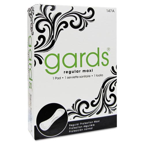 Hospeco hos4147 gards maxi pads number 4, 250 individually boxed napkins carton
