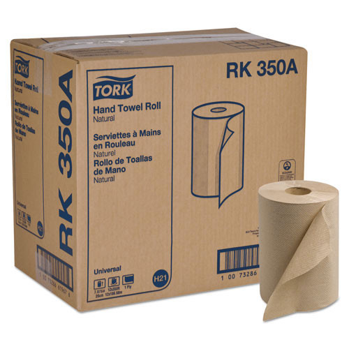 Scark350a hard roll towels, natural, 7 7 8 wide x 350ft, 5.5 dia, 12 rolls carton