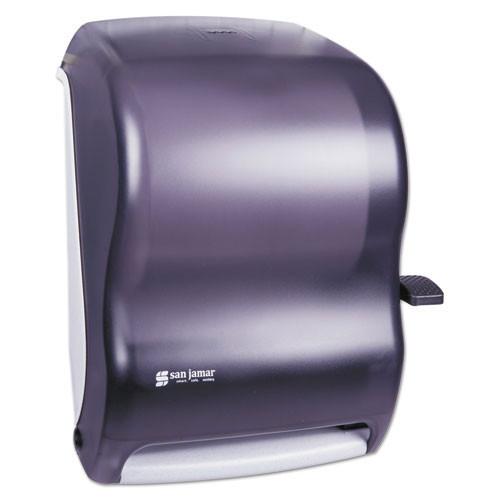 San Jamar SJMT1100TBK paper hand towel dispenser roll towel lever black plastic