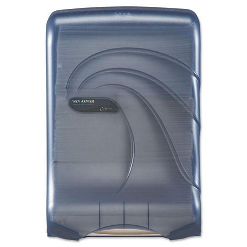 San jamar sjmt1790tbl ultrafold multifold cfold towel dispenser, oceans, blue, 11 3 4 x 6 1 4 x 18
