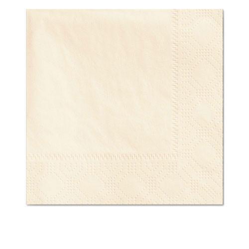 Hfm180317 beverage napkins, 2 ply, 9 .5 x 9 1 2, ecru, 1000 carton