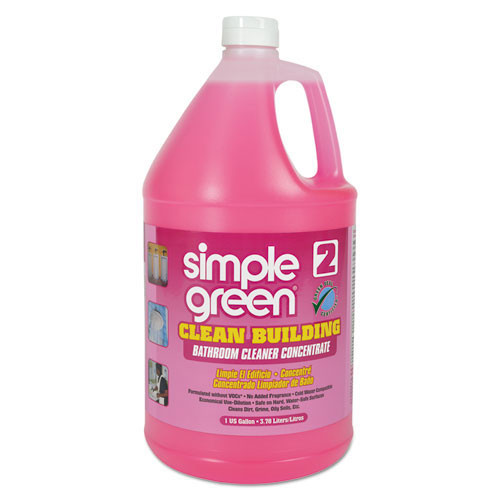 Simple Green smp11101ct clean building bathroom cleaner concentrate, unscented 1 gallon bottle