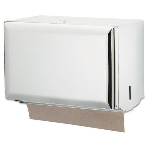 San Jamar SJMT1800WH paper hand towel dispenser singlefold hand towel white steel