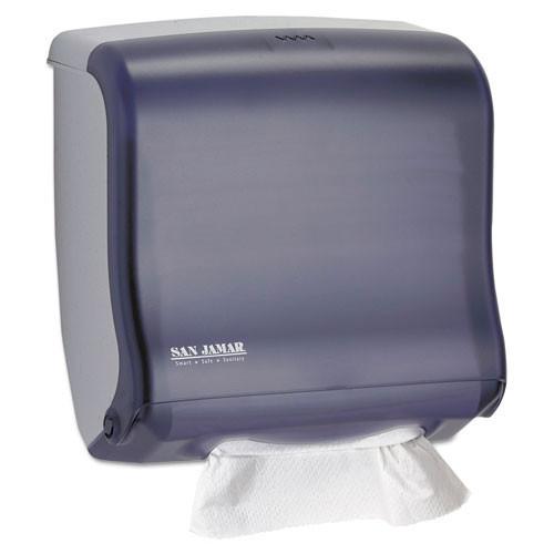 San jamar sjmt1755tbk ultrafold fusion cfold and multifold towel dispenser, 11 1 2x5 1 2x11 1 2, black