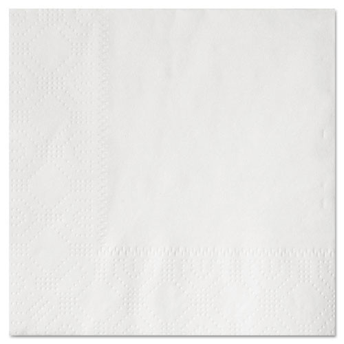 Hfm180300 beverage napkins, 2 ply 9 .5 x 9 1 2, white, embossed, 1000 carton