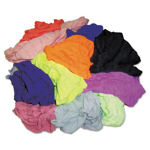 Hospeco hos24510 polo t shirt rags, assorted colors, 10 pounds bag