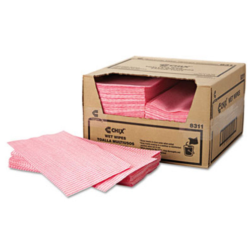 Chicopee CHI8311 wet wipes, 11 .5 x 24, white pink 200 carton