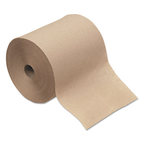 Windsoft win12806 paper hand towels nonperforated 8 inch x 800ft, brown, 6 rolls carton