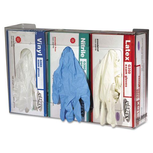 Disposable glove dispensers plastic San Jamar three box dispenser clear Plexiglass replaces SANG0805 San Jamar SJMG0805