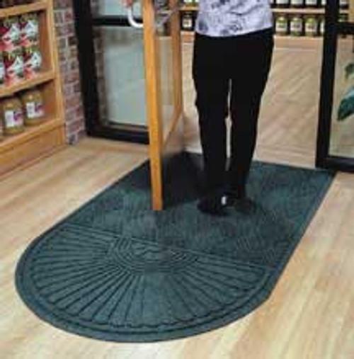Door Mat Andersen Waterhog Eco Grand Premier one end round size 3x5.5 foot product number 22248 3x5.5