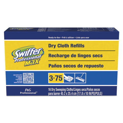 Swiffer dust mop refill 37109 disposable max refill cloths fits 17 inch sweeper frame 94 cloths per case