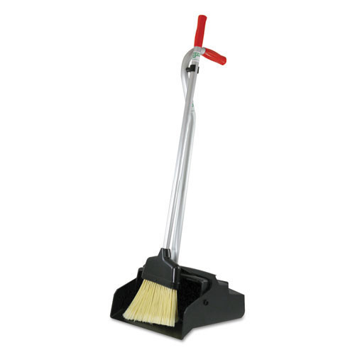 Unger ungedpbr lobby dust pan with broom edpbr self closing broom stores on handle