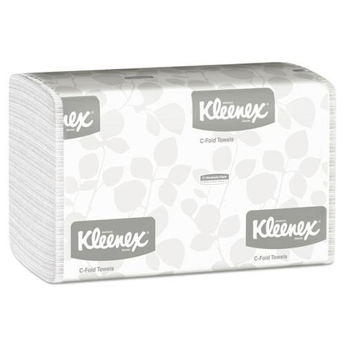 Kleenex KCC01500 paper hand towels cfold white case of 2400 towels
