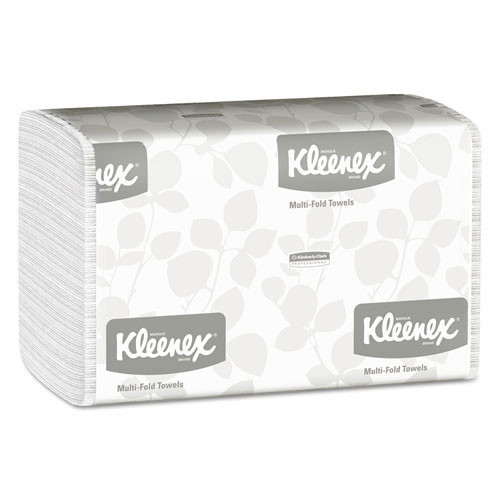 Kleenex KCC01890 paper hand towels multifold 1 ply white case of 2400 towels