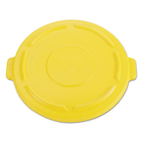 Rubbermaid 264560yel trash can lid for round Brute container 44 gallon yellow