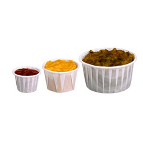 Solo SCC100 portion cup 1 oz paper pleated case of 5000