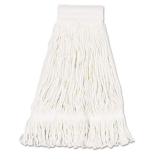 Boardwalk BWK524C cotton looped end fantail wet mop heads 24oz 5 inch headband case of 12