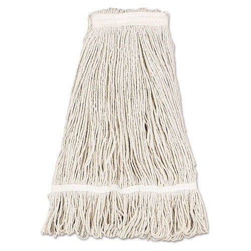 Boardwalk BWK432C cotton looped end fantail wet mop heads 32oz 1 inch headband case of 12
