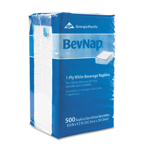 Acclaim Bevnap beverage napkins acclaim bevnap 9.5x9.5 1 ply case of 4000