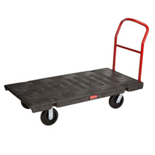 Rubbermaid 4471bla platform truck 30x60 2000 lb. black