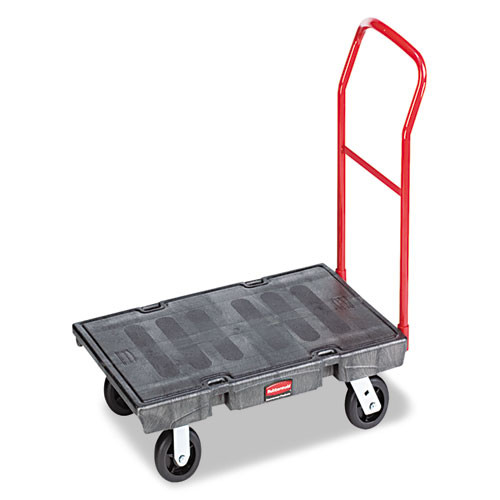 Rubbermaid 4436bla platform truck 24x48 2000 lb. black replaces rcp4436bla rcp443600bk