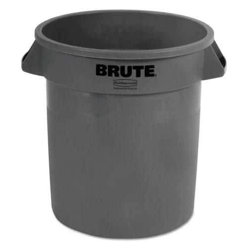 Rubbermaid 2610gra trash can 10 gallon Brute round container gray
