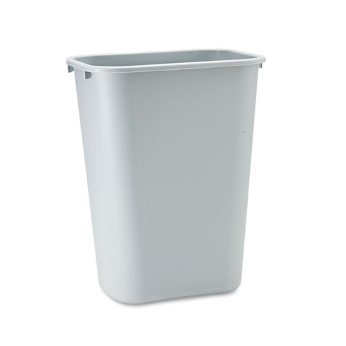 Rubbermaid 2957gra trash can 10 gallon wastebasket plastic rectangle gray replaces rcp2957gra rcp295700gy