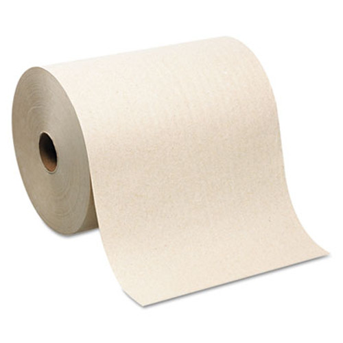 Windsoft win1280 paper hand towels nonperforated 1 ply 8 inch width natural 800 foot per roll case of 12 rolls