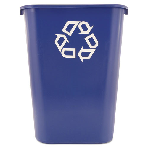 Rubbermaid 295773blu trash can 10 gallon wastebasket recycle blue replaces rcp295773blu rcp295773be