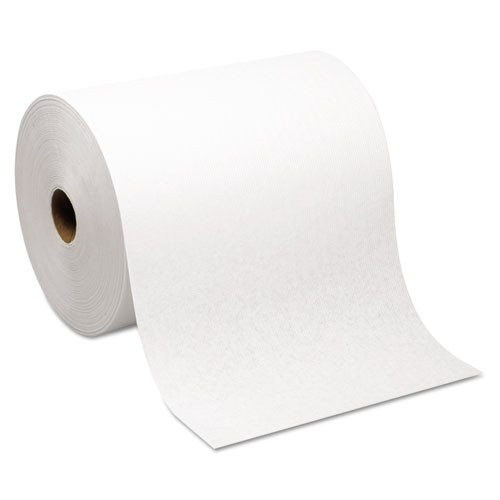 Windsoft win1290 paper hand towels nonperforated 1 ply white 8 inch wide 800 foot per roll case of 12 rolls