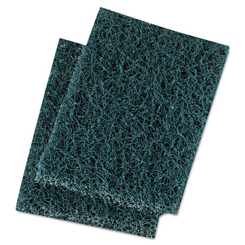 Boardwalk BWK188 scour pad extra heavy duty 3.5x5 green case of 20 pads replaces PAD188
