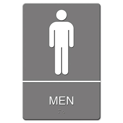 Men restroom sign meets ada requirements 6x9 inch gray replaces ust4817 us stamp and sign uss4817