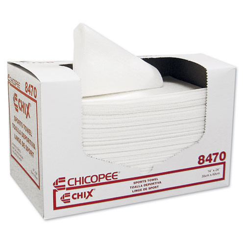 Sports towel Chicopee white 14x24 100 towels per pack 6 packs per case case of 600 towels chi8470
