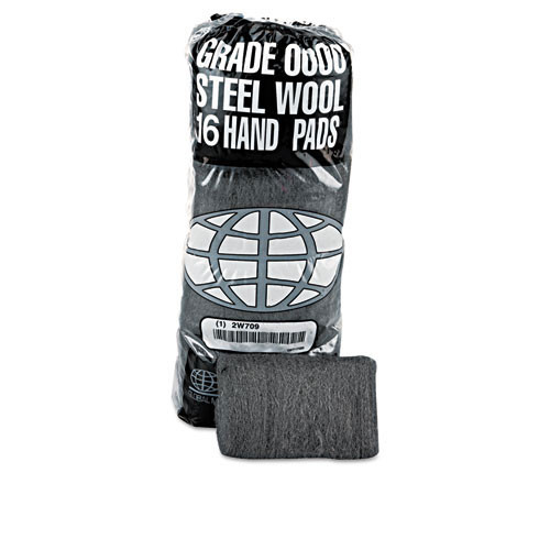 Steel wool hand pads industrial quality grade number 0 medium fine case of 192 pads replaces gmt117003 gma117003