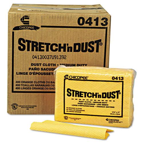 Stretch n dust cloths Chicopee yellow orange 12.6x17 40 bag 10 bags per case chi0413