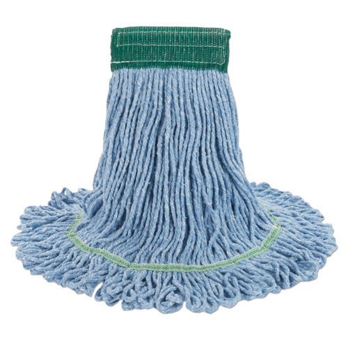 Boardwalk BWK502BLCT Super Loop looped end wet mop heads medium blue 5 inch headband case of 12 replaces UNS502GN