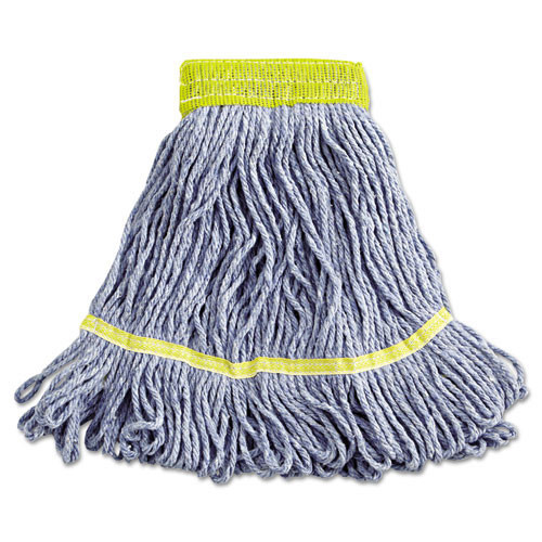 Boardwalk BWK501BL Super Loop looped end wet mop heads small blue 5 inch headband case of 12